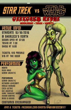 Geekgasm Revue Star Trek Star Wars Burlesque Nerdlesque Cosplay Austin TX