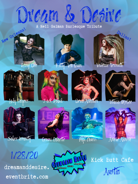 Austin Burlesque, Neil Gaiman, Burlesque Tribute, Dream and Desire, Dream & Desire, Neil Gaiman Burlesque, things to do in Austin, Austin events, Austin shows