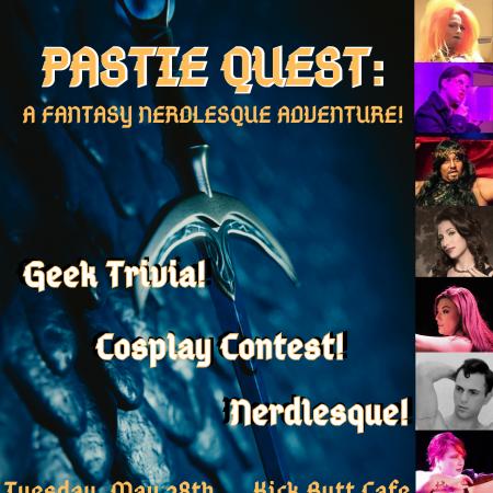 Geekgasm Revue, Kick Butt Cafe, Nerdlesque, Geek Trivia, Austin Burlesque, Burlesque, Austin Texas, Tifa Tittlywinks, Errmaa Gawd, Dewey Decibelle, Papi Churro, Titiana McGee, Lady Marionette, Bobby Barnaby, Folly Parton, Gemmi Galactic, Austin shows, Austin Cosplay, Cosplay Cabaret, Game of Thrones Burlesque, Pastie Quest, Fantasy Nerdlesque, Lord of the Rings Burlesque,