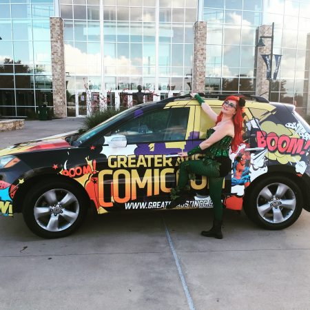 Gemmi Galactic Greater Austin Comic Con Austin Texas Poison Ivy cosplay