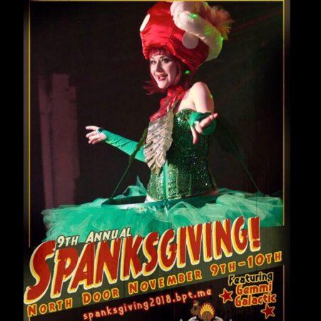 Gemmi Galactic Spanksgiving Austin Burlesque Festival